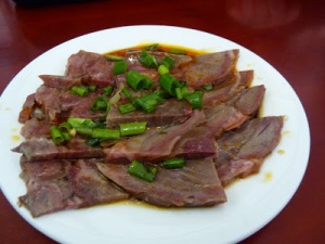 Lunch of donkey meat in China